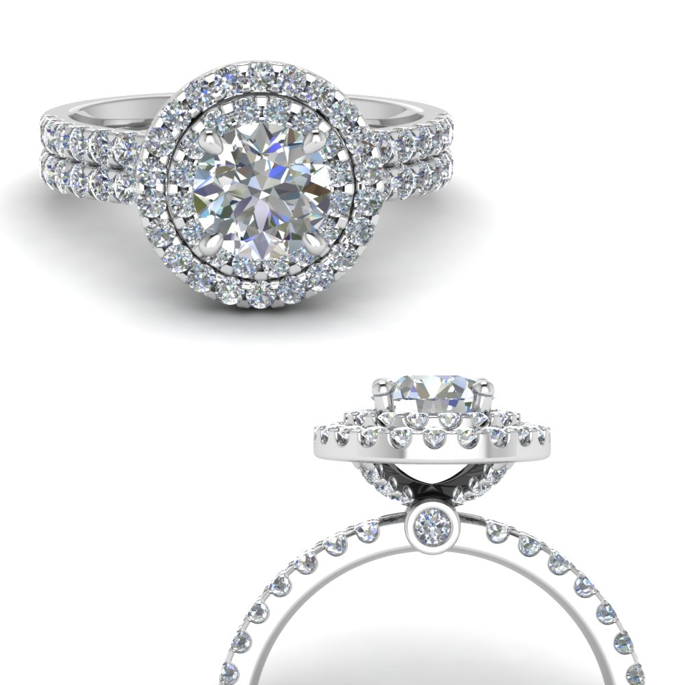 double band round halo diamond engagement ring in FD9141RORANGLE3 NL WG.jpg