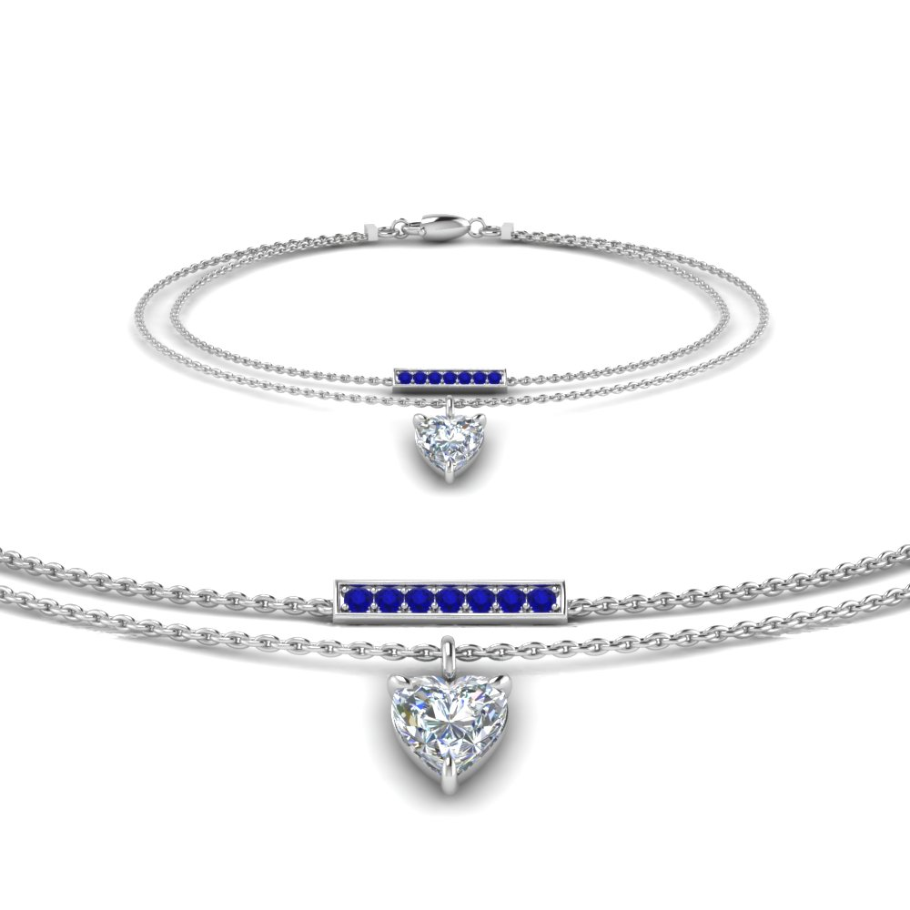 Heart Drop Diamond Bracelet