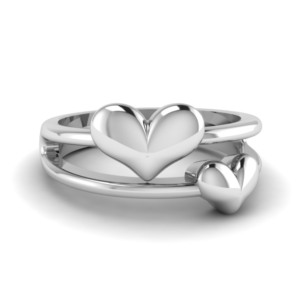 Beautiful Double Heart Promise Ring For Her