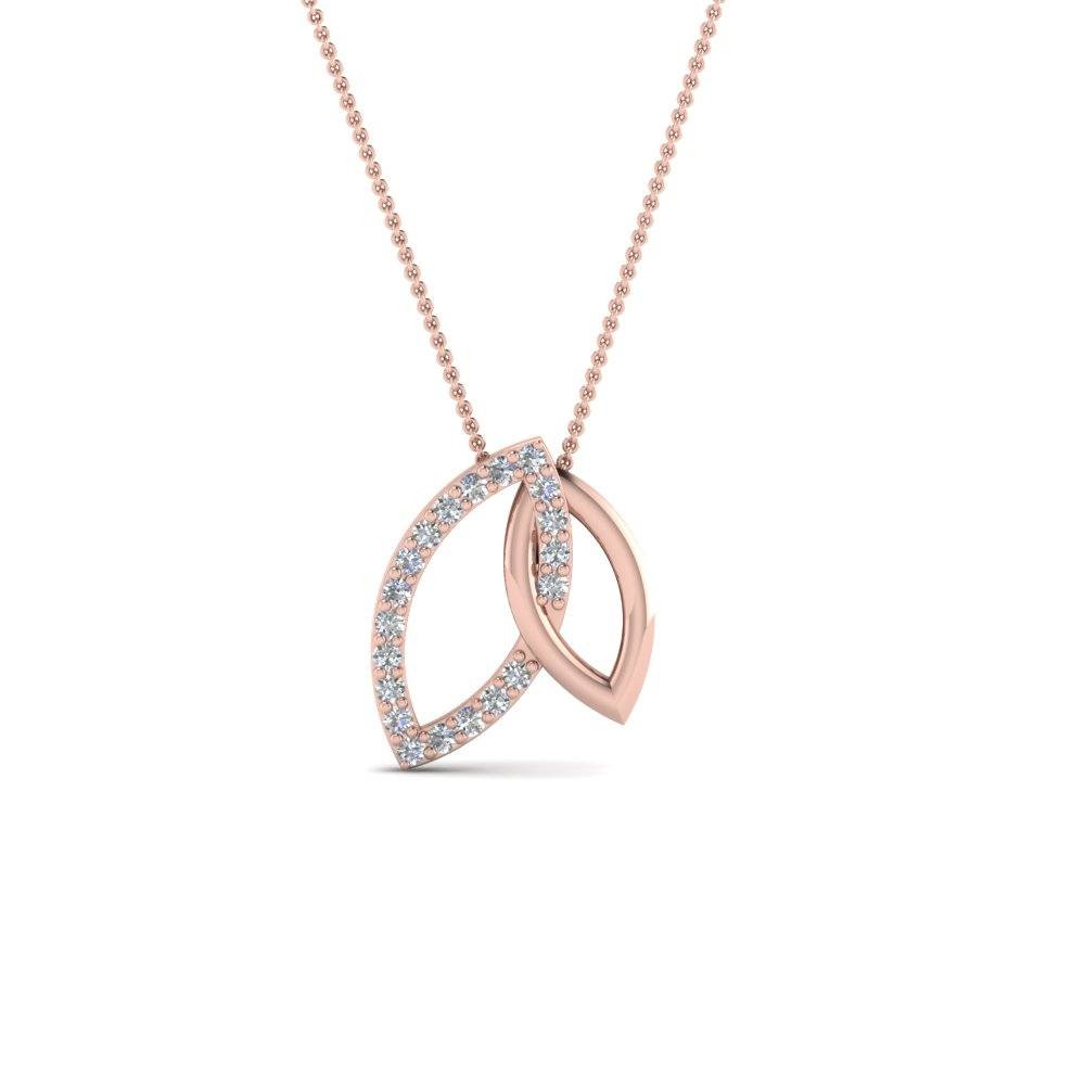 Open Marquise Diamond Pendant