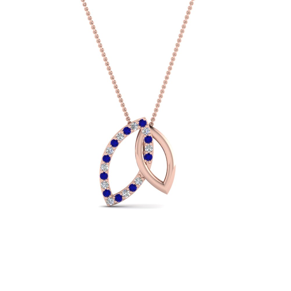 Open Sapphire Marquise Pendant