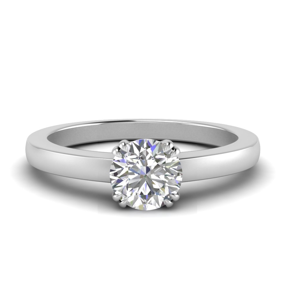 Double Prong Round Diamond Ring