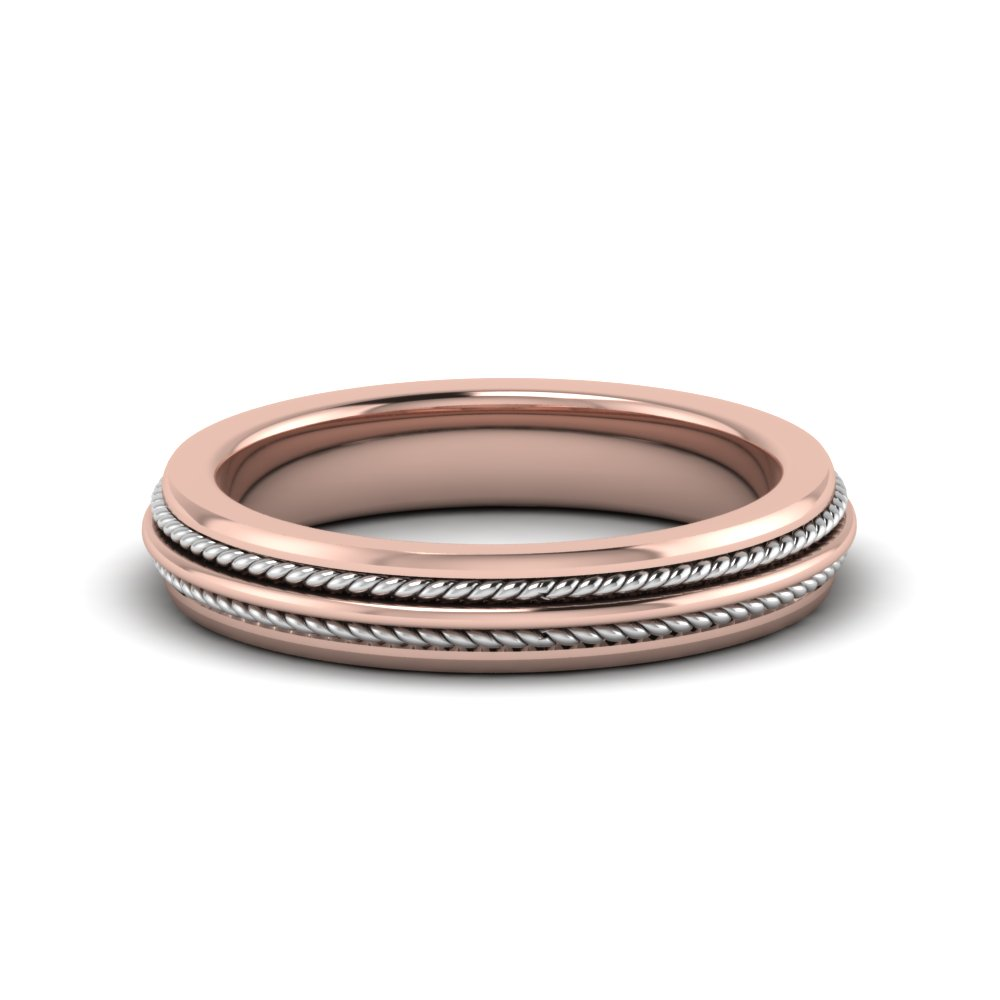Rose Gold Flat Wedding Bands