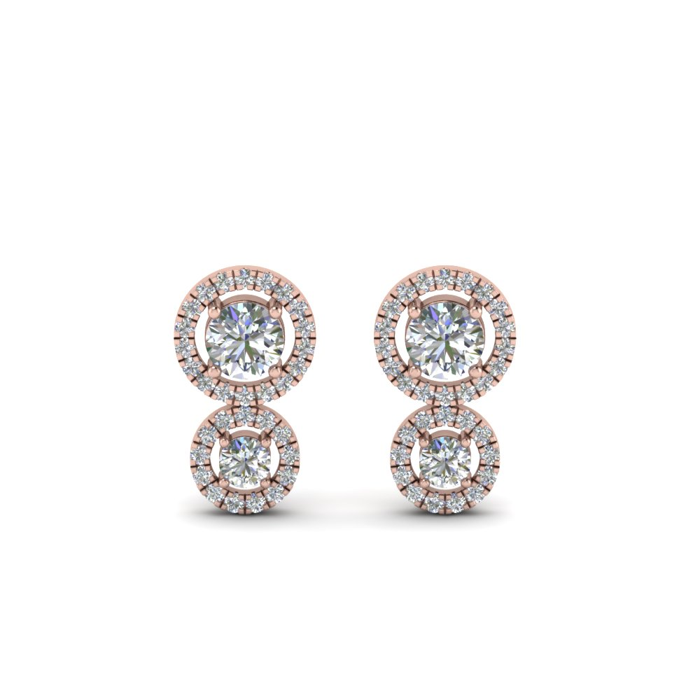dual halo diamond stud earring in FDEAR8974ANGLE1 NL RG