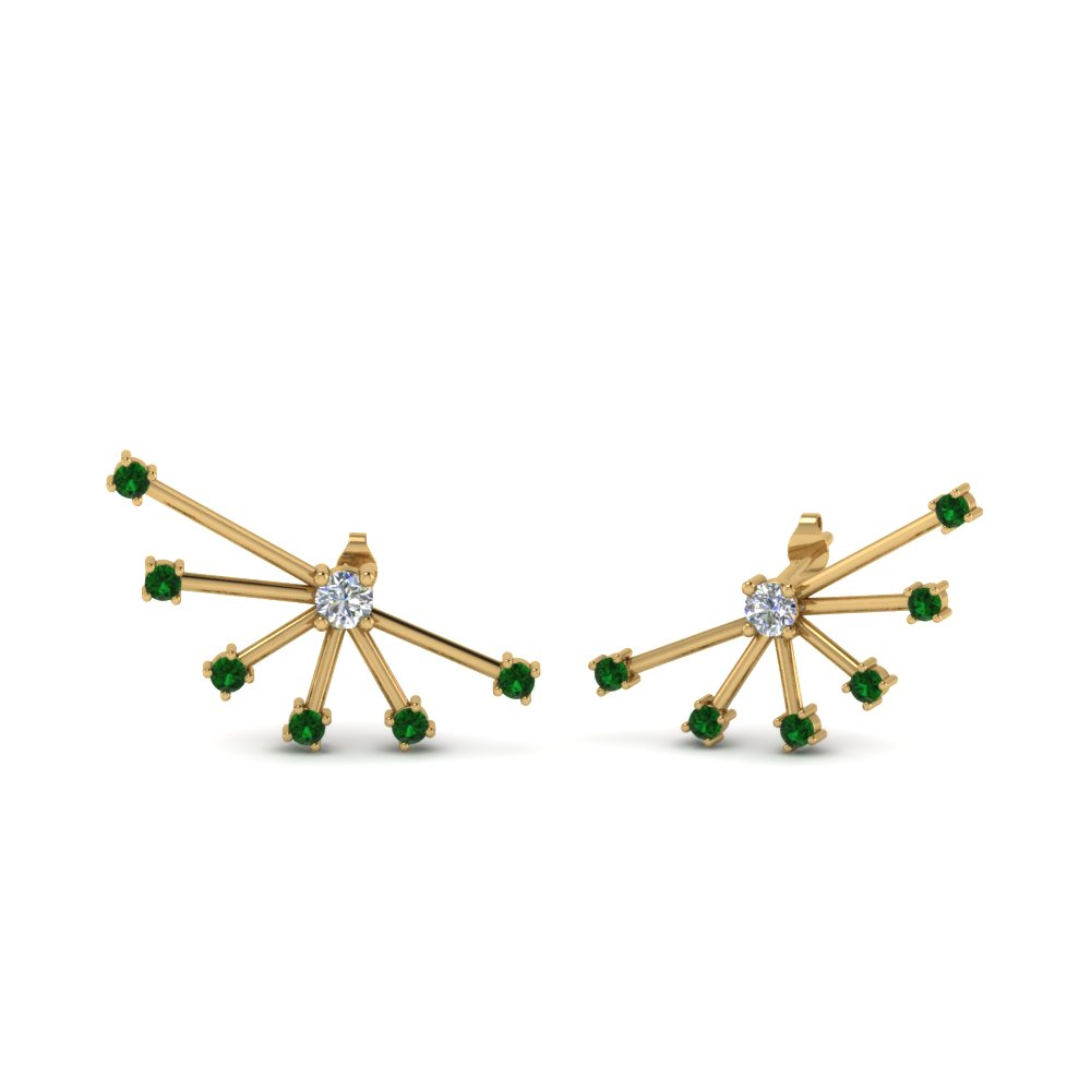 Emerald Ear Cuff Earring