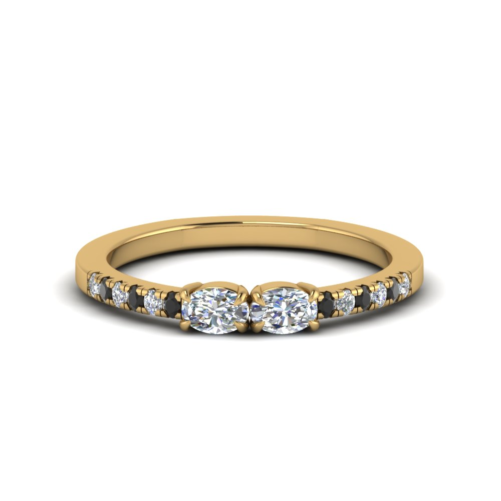 East West Oval Diamond Ring