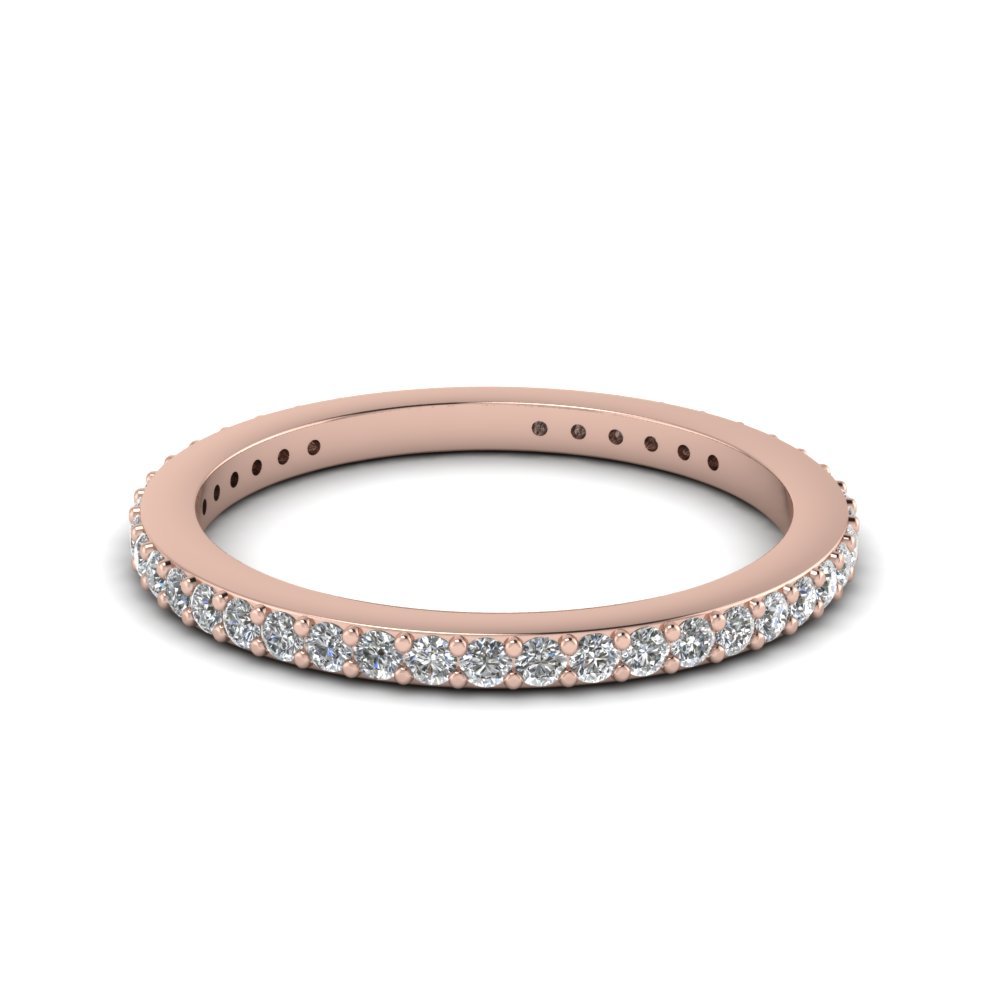 thin diamond stackable eternity band in FDEWB450B NL RG