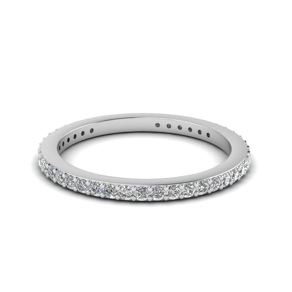thin diamond stackable eternity band in FDEWB450B NL WG