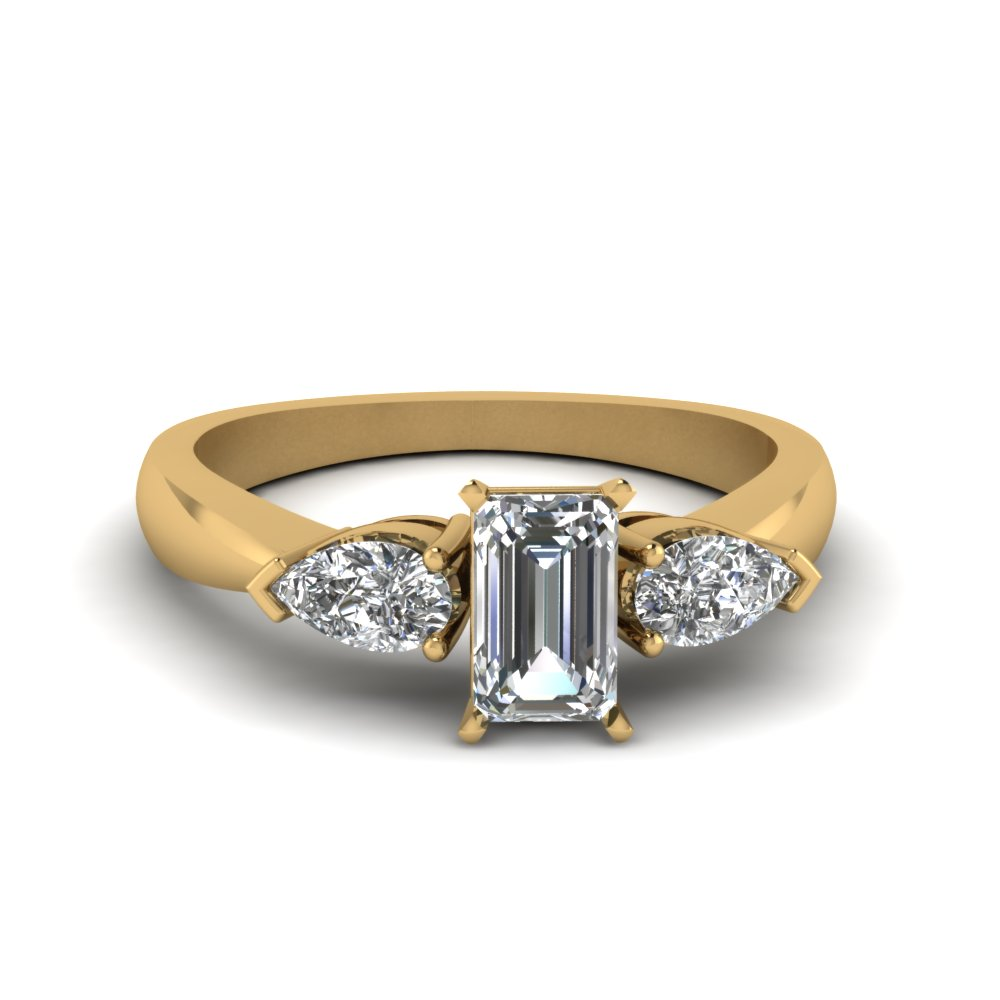 Emerald Cut Half Carat Women Diamond Ring