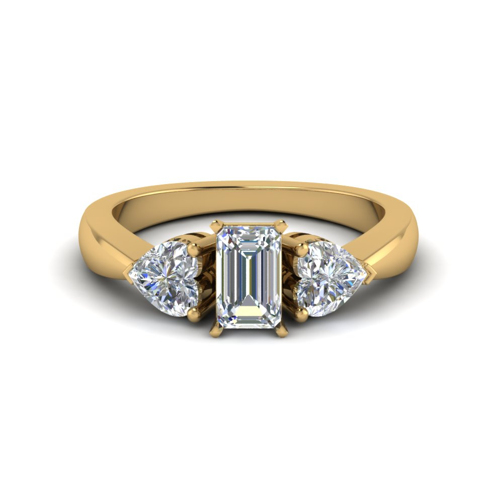 Emerald Cut Diamond Gold Ring