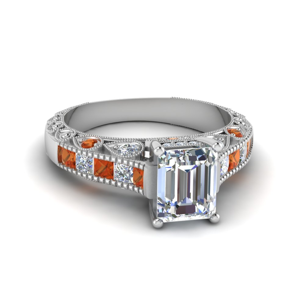 Vintage Emerald Cut Engagement Rings