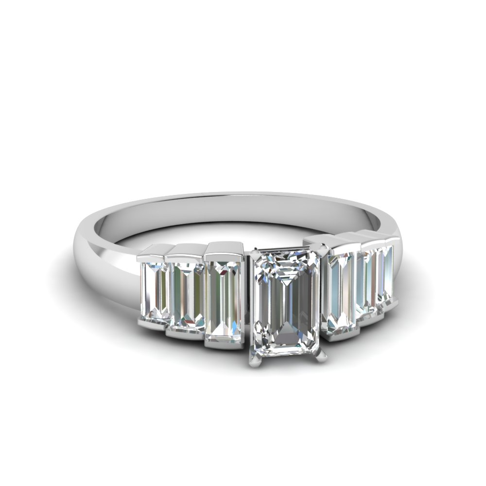diamond engagement market er ring baguette unique semi accented product mount rings home