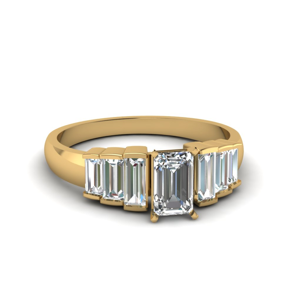 Baguette Diamond Accents 7 Stone Ring