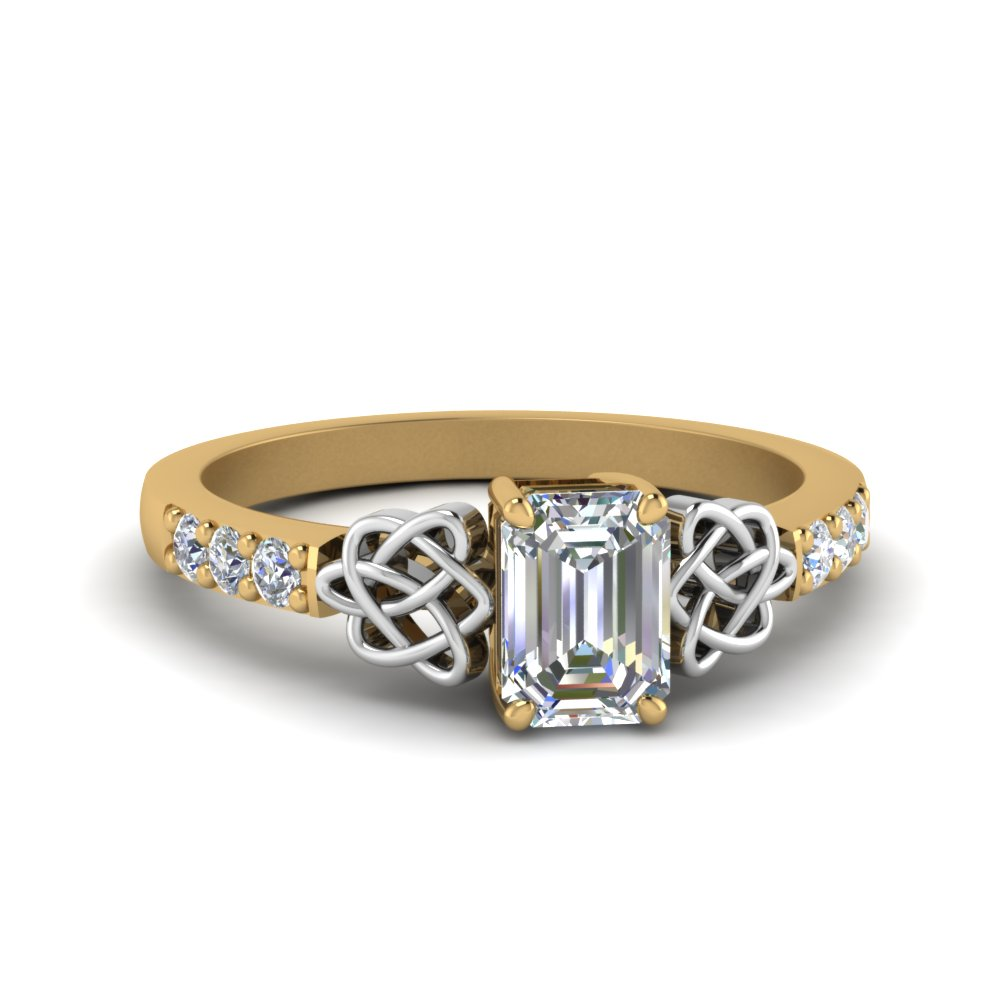 Gold Celtic Diamond Engagement Ring