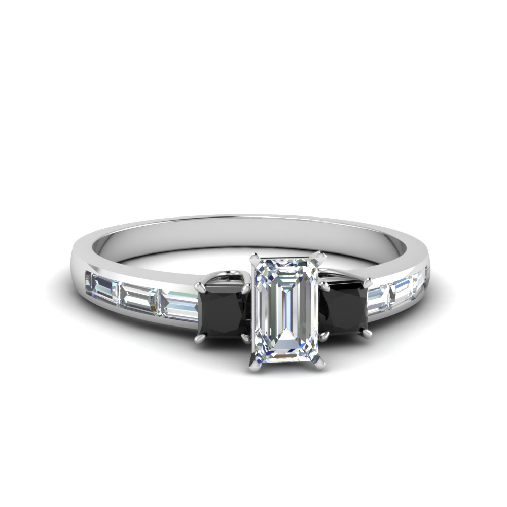 Baguette 3 Stone Diamond Ring