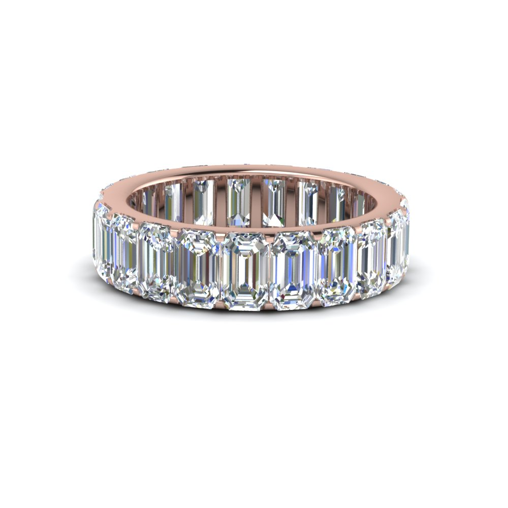 emerald cut diamond Eternity band in 14K rose gold FDEWB8127B NL RG