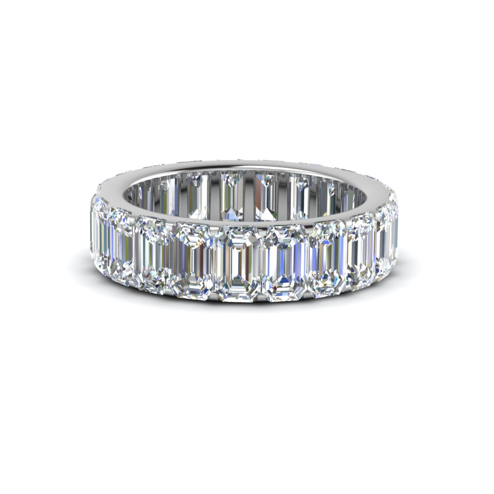 4.25 Ct. Emerald Cut Band