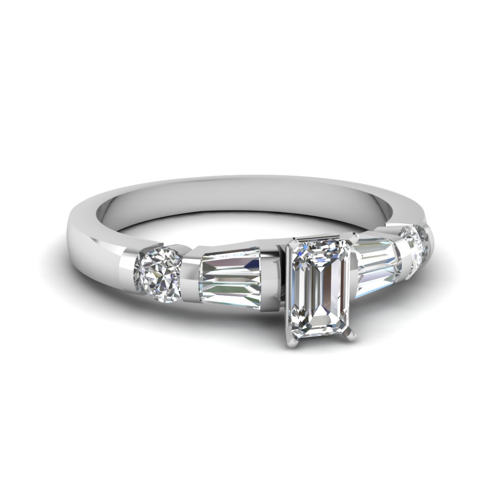 Bar Set Baguette Ring