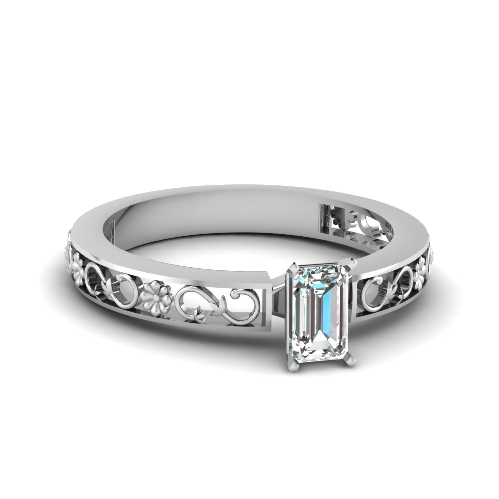 Emerald Cut Vintage Style Ring