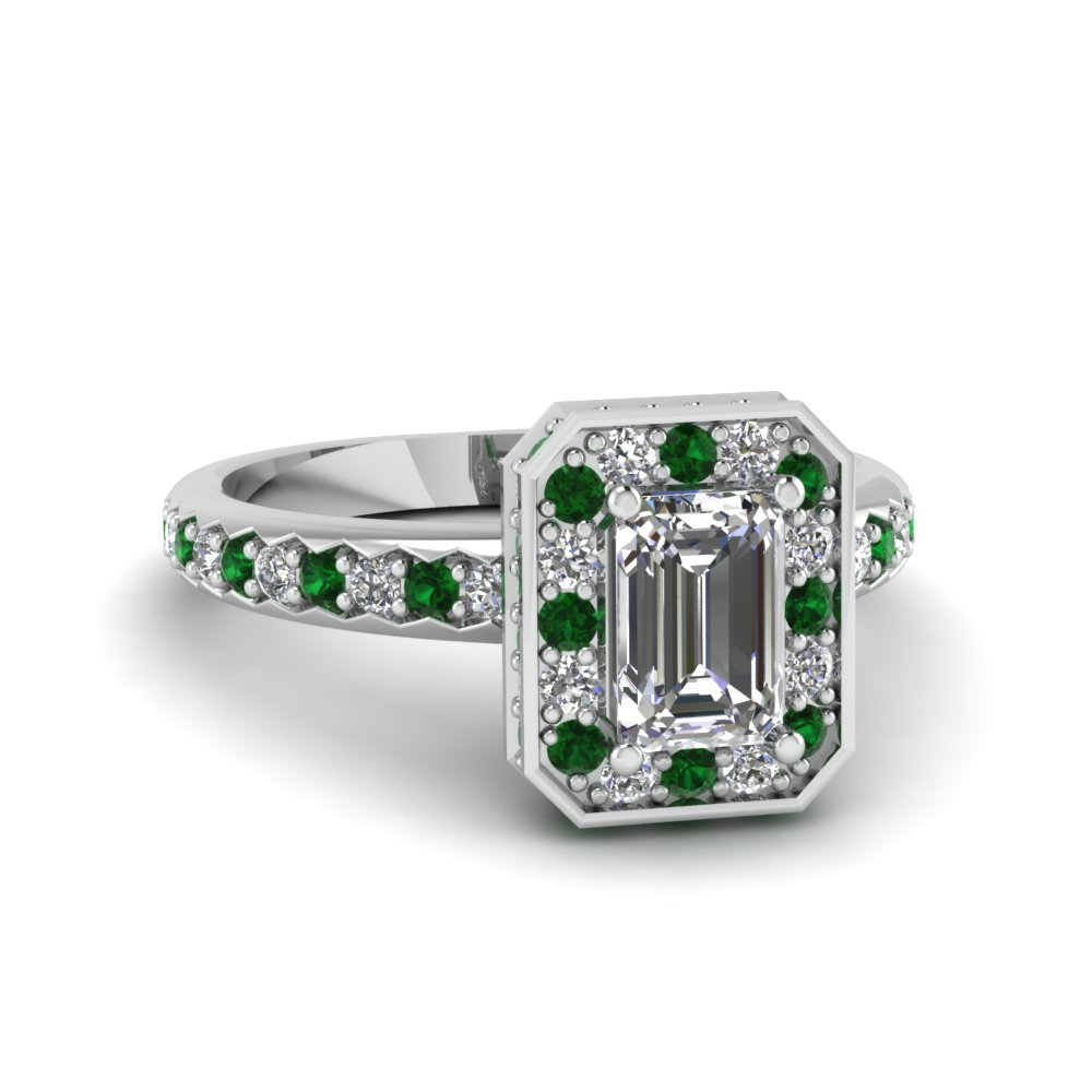 emerald-cut-diamond-encased-basket-halo-ring-with-green-emerald-in-14K-white-gold-FDENR7309EMRGEMGR-NL-WG