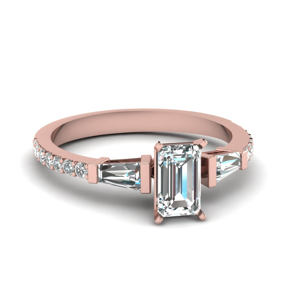 Delicate Rose Gold Engagement Rings