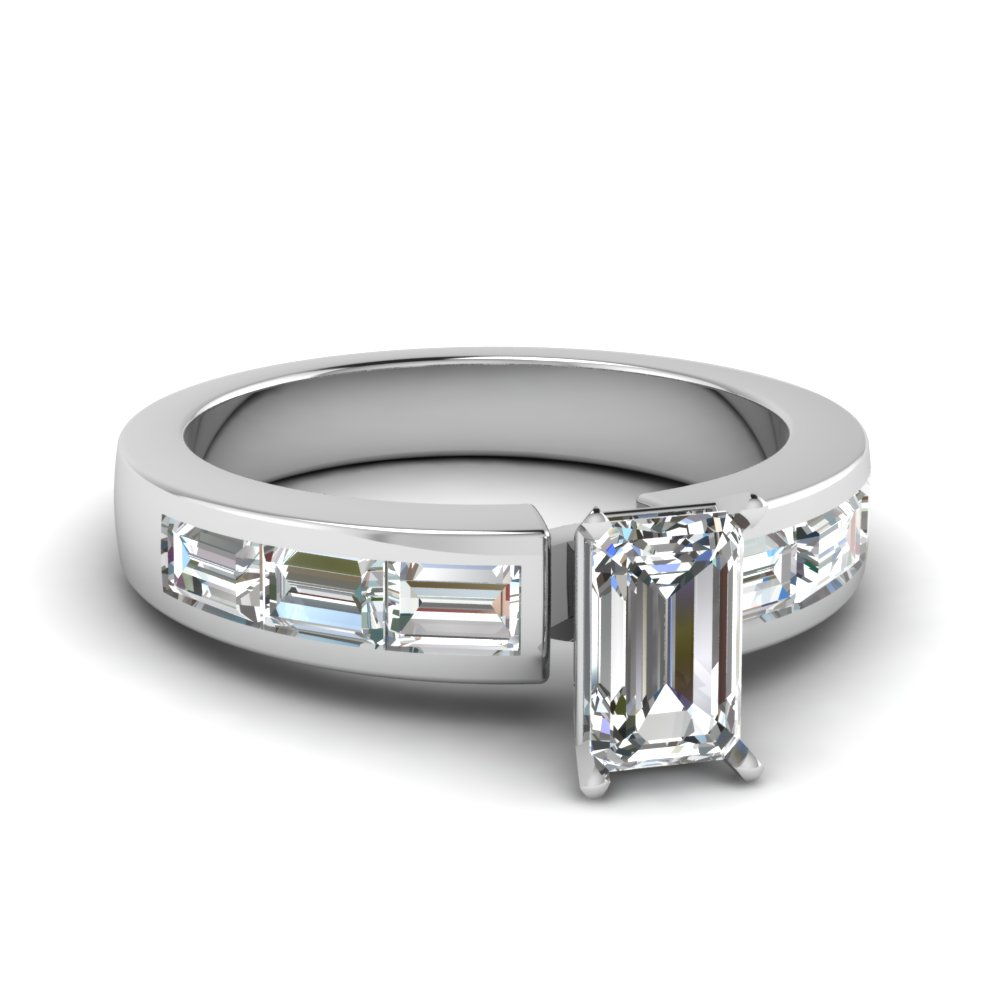 Moissanite Channel Set Ring