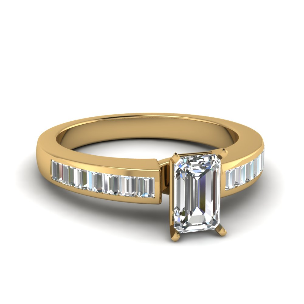 Baguette Channel Diamond Ring