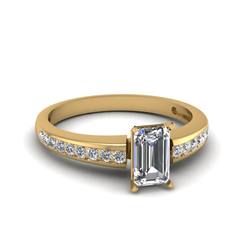 1/2 Carat Emerald Cut Women Rings