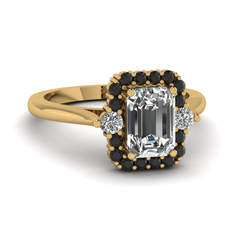 Save big on Emerald Cut Halo Engagement Rings | Fascinating Diamonds