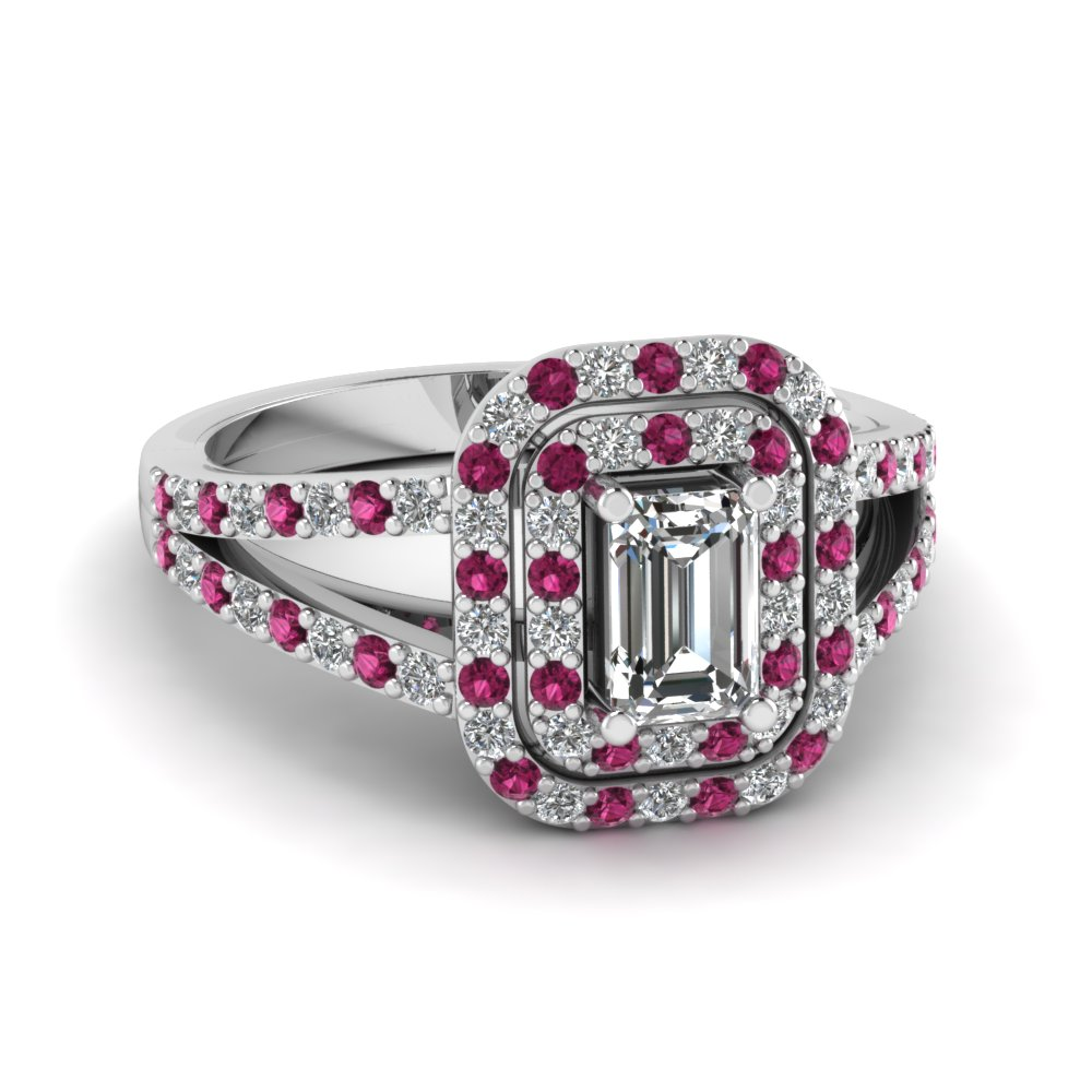buy our pink sapphire halo rings fascinating diamonds