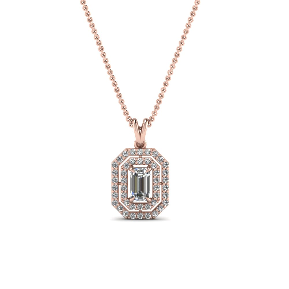Emerald cut diamond fancy pendant in 14k rose gold fascinating emerald cut diamond fancy pendant in 14k rose gold fdpd1190em nl rg aloadofball Choice Image