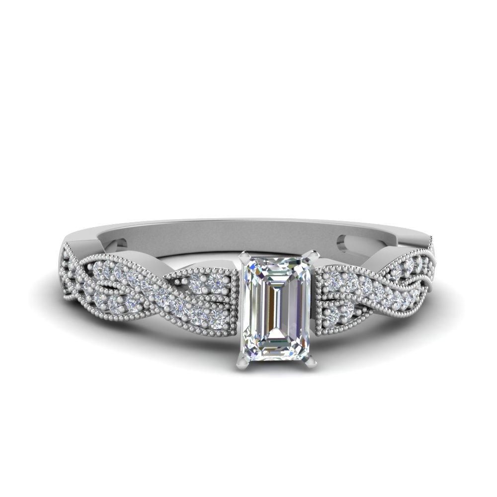 emerald cut diamond milgrain twisted ring in FDENS3031EMR NL WG.jpg