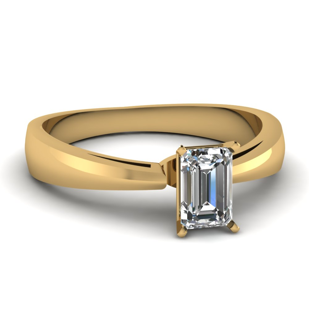 Certified Emerald Cut Diamond Ring