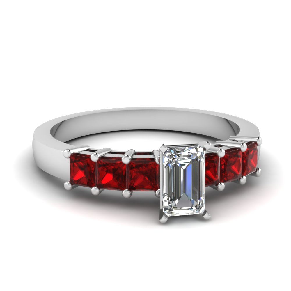 Ruby Seven Stone Ring