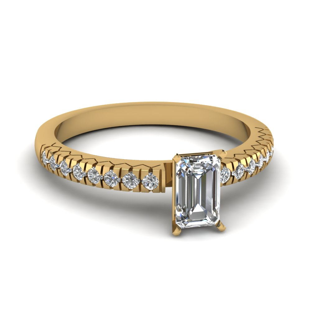Half Carat Emerald Cut Engagement Rings