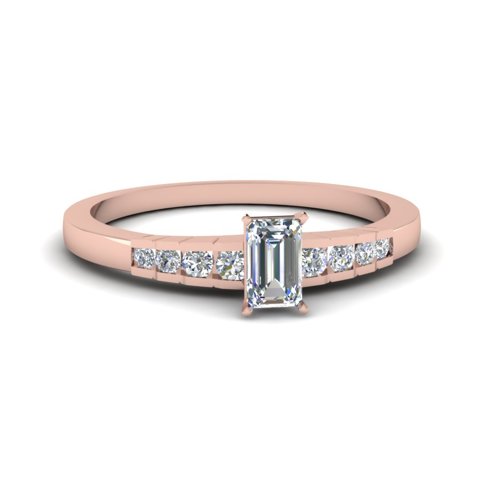 Pink Gold Diamond Engagement Ring