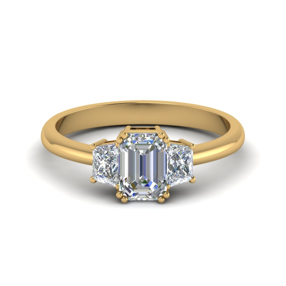 Emerald Cut Trapezoid Diamond Ring