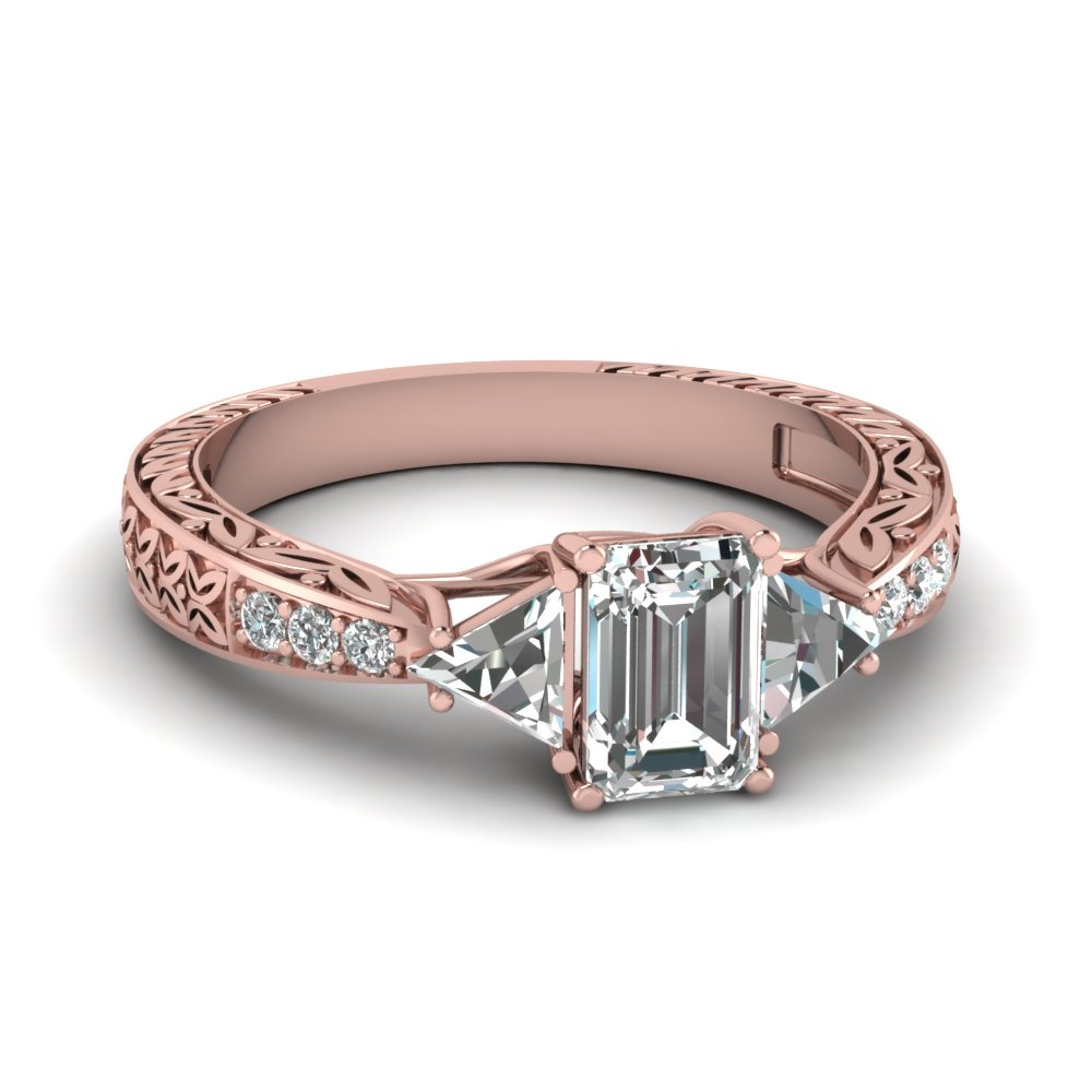 Antique Trillion Rose Gold Ring