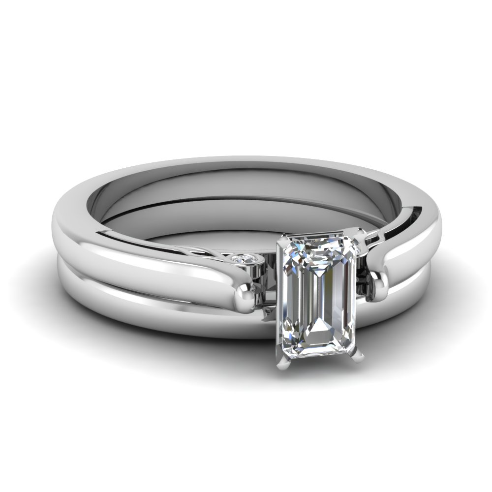 emerald cut diamond cathedral wedding ring set in FDENS2000EM NL WG.jpg