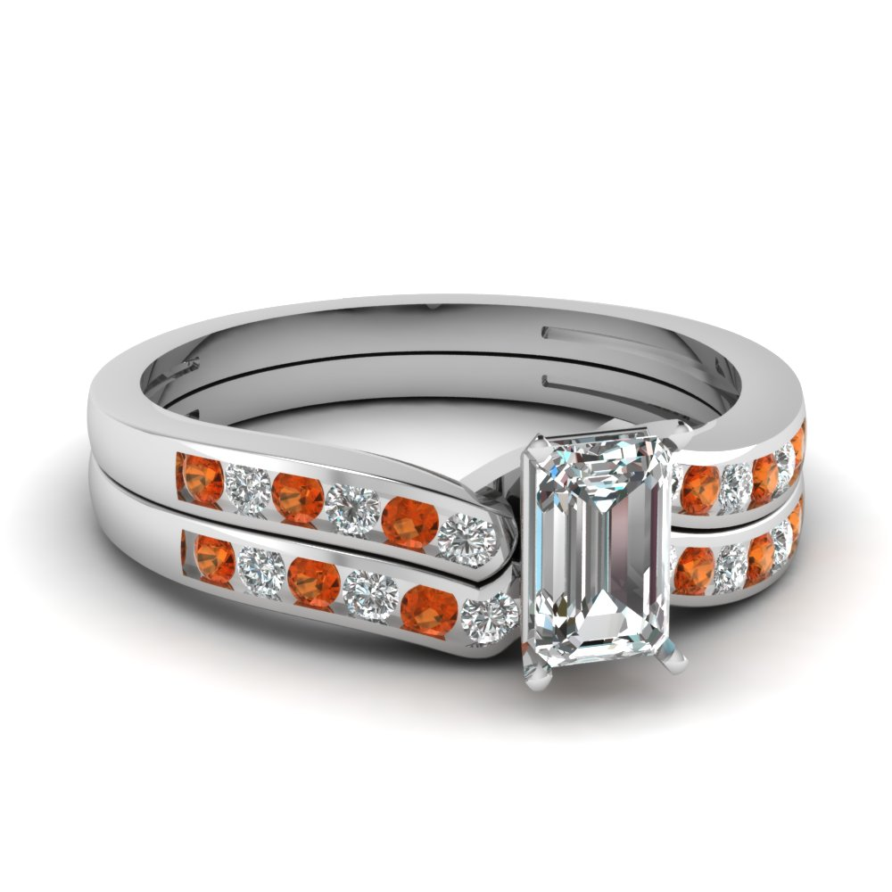 emerald cut diamond channel bridal set with orange sapphire in FDENS3092EMGSAOR NL WG.jpg