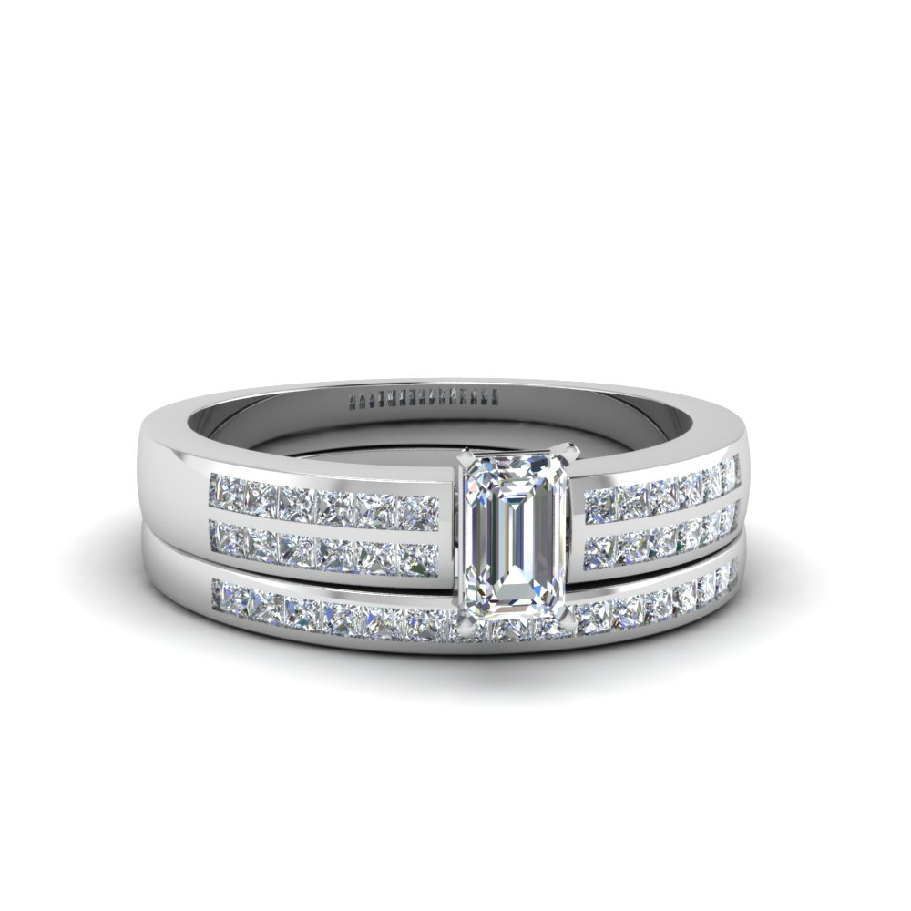 emerald cut double row channel diamond wide bridal set in FDENS3122EM NL WG.jpg