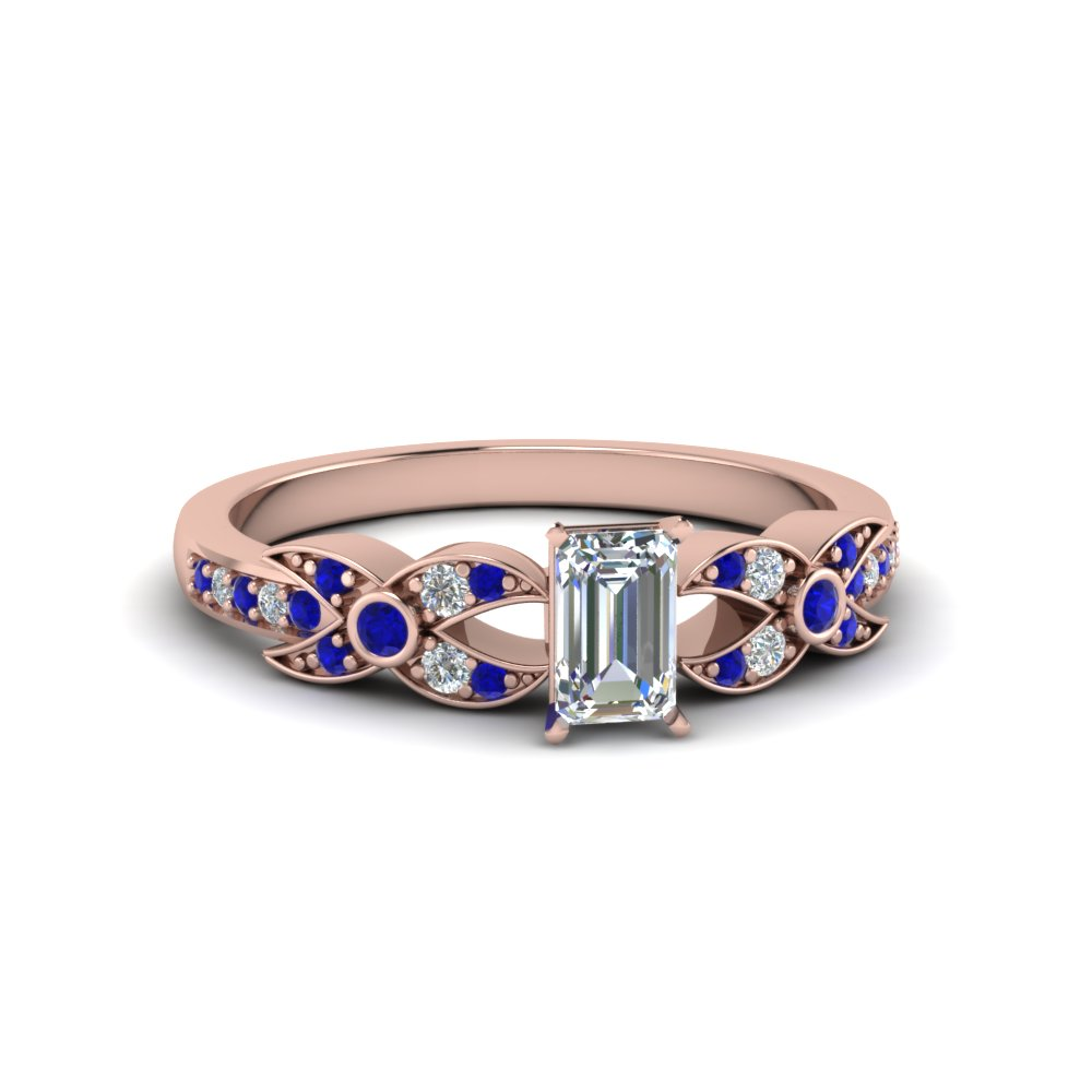 Petite Sapphire Engagement Ring For Female