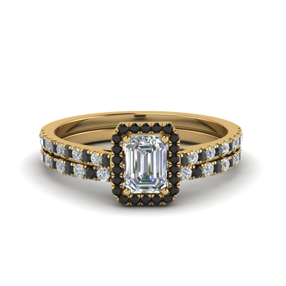 Emerald Cut Diamond Pave Set