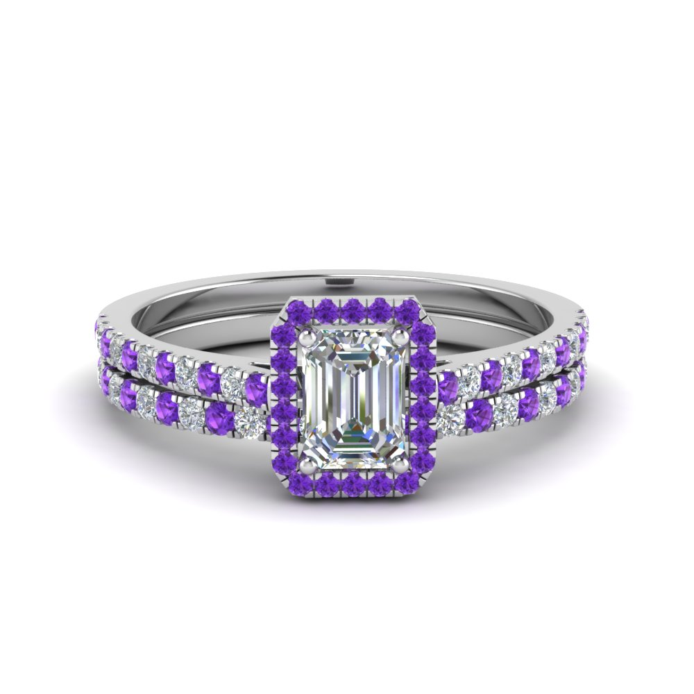 Purple Topaz Diamond Pave Set