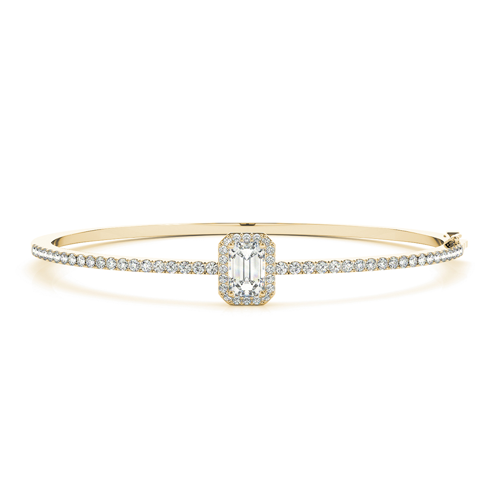 Emerald Cut Bangle Bracelet