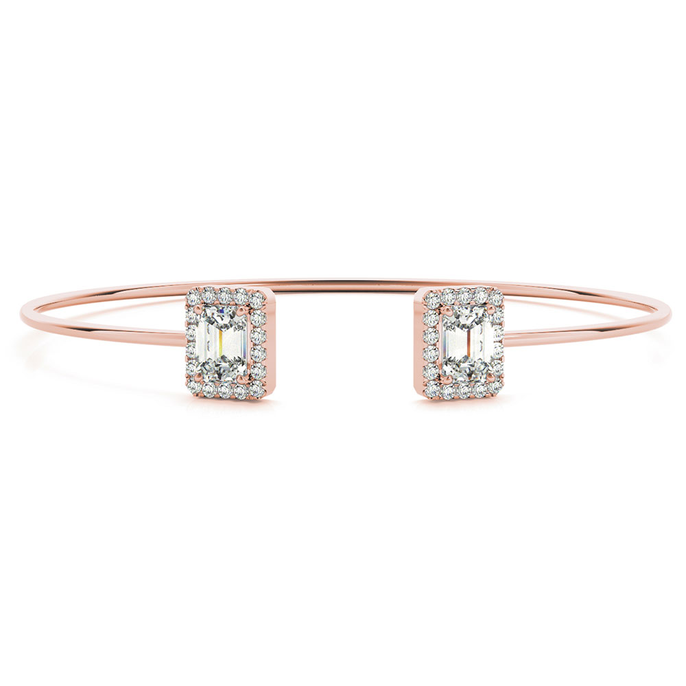Open Wrap Halo Diamond Bracelet