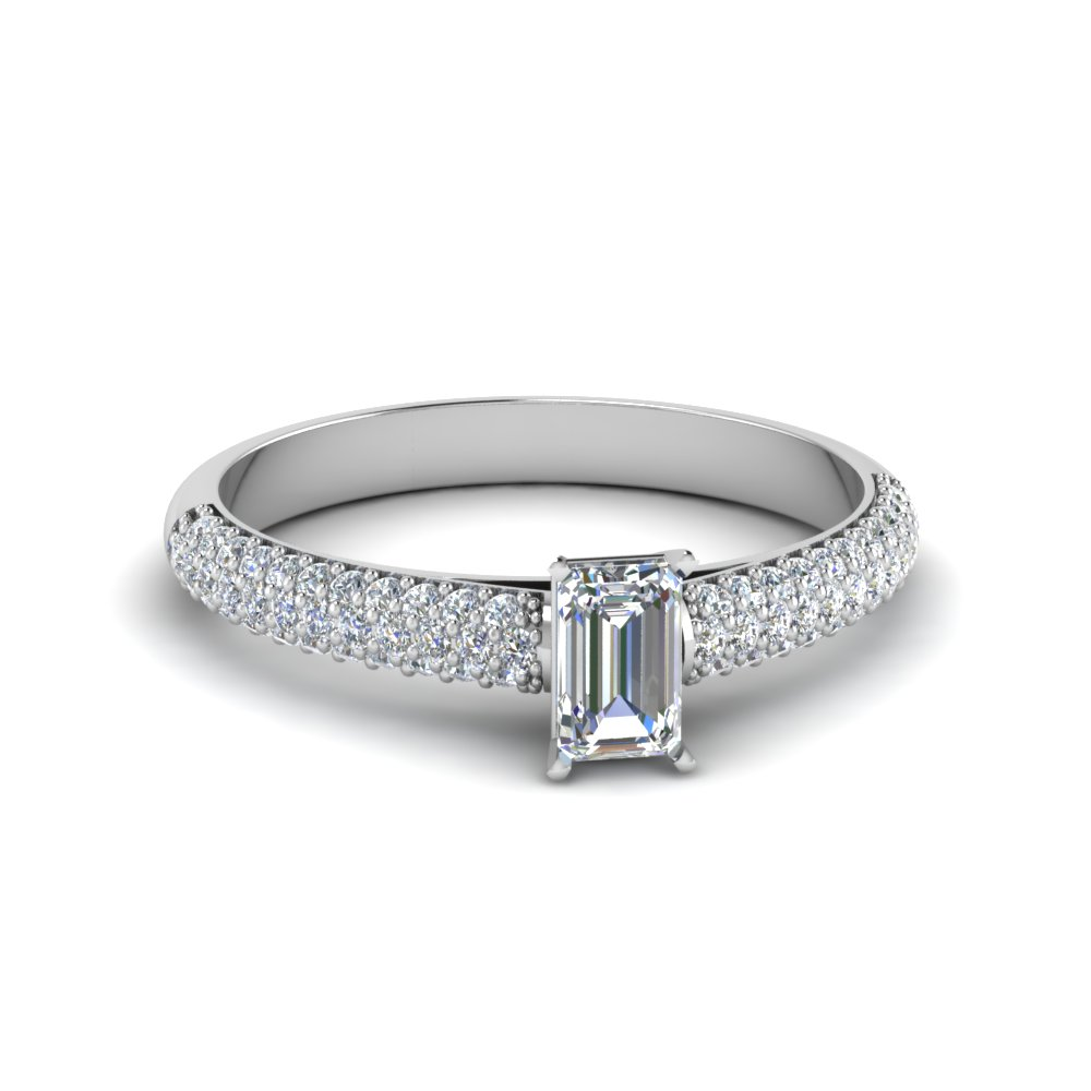 Micropave Diamond Engagement Ring