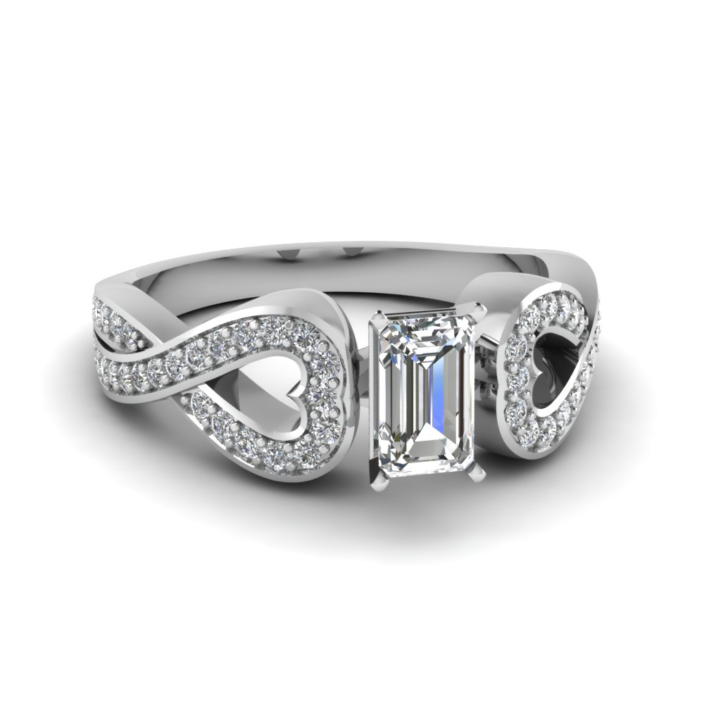 0.75 Ct. Emerald Cut Engagement Ring Styles