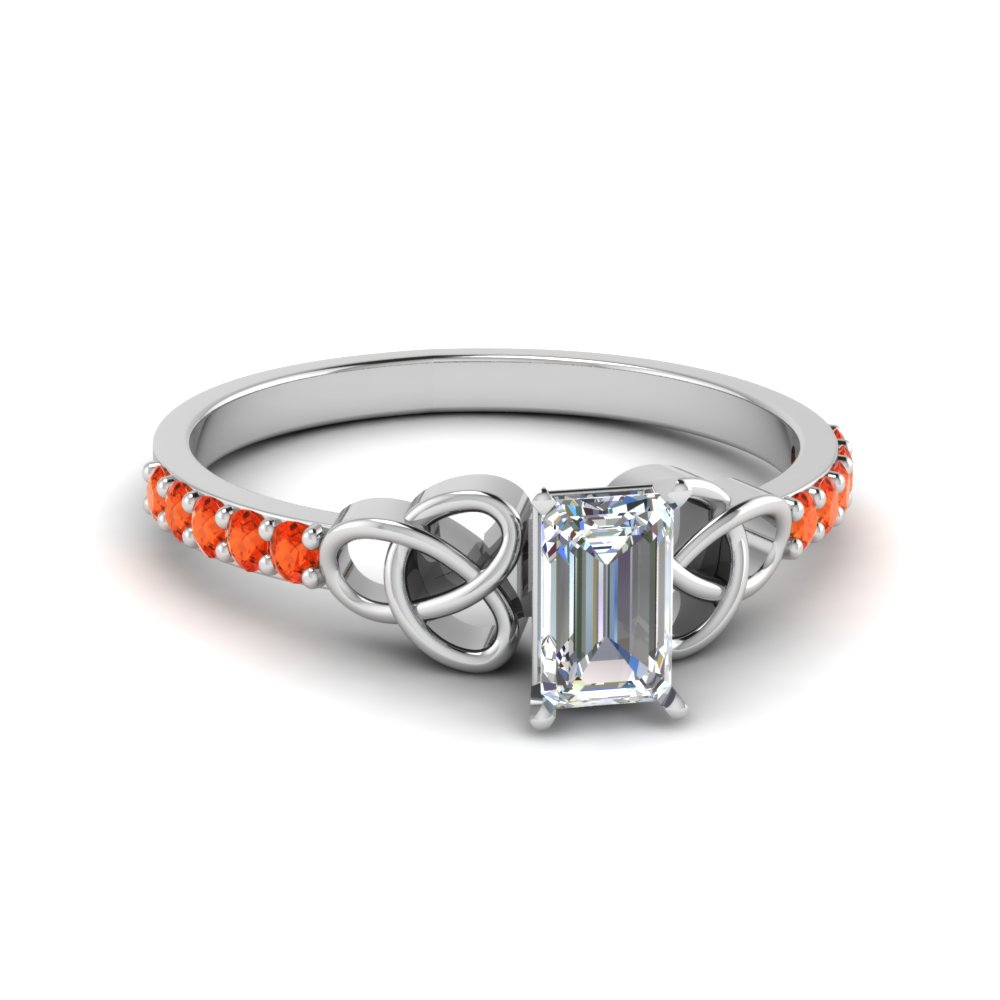 Fancy Orange Topaz Petite Engagement Ring