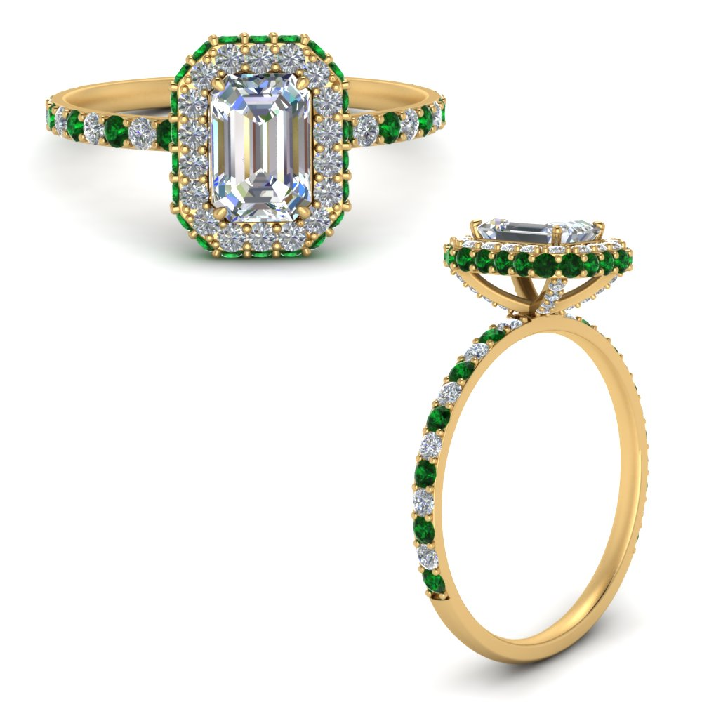 emerald-cut-rollover-halo-diamond-ring-with-emerald-in-FD9376EMRGEMGRANGLE3-NL-YG